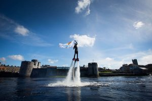 riverfest launch, king johns castle, fly board, flyboarding, shannon river,
